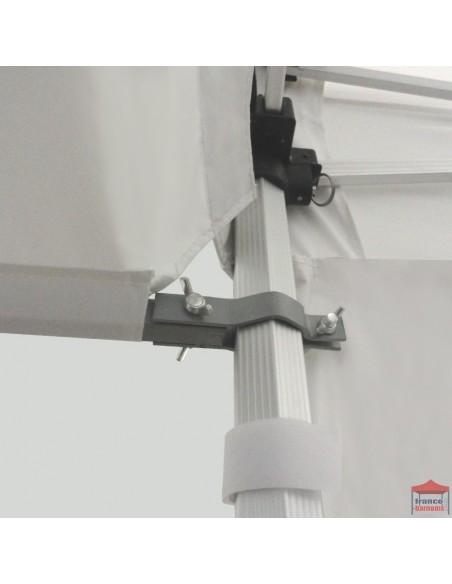 Casquette extension soleil de 4,5m en PVC 580g pour barnum pliable hexa 55