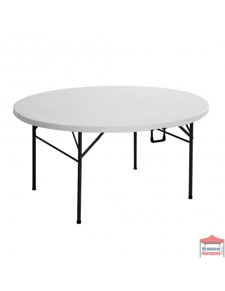Table pliante ronde 152cm en polyéthylène haute densité
