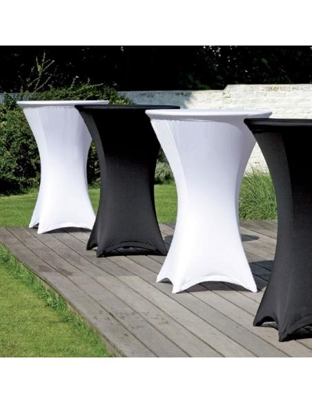 Housse en stretch pour table haute mange-debout
