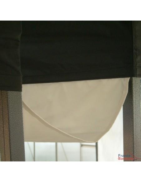 Gouttière de 6m pour tente pliante à fixer par bandes de velcro sur les bandeaux de la bâche de toit.