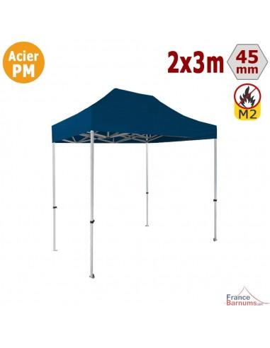 Barnum Pliant - Stand Acier Premium M2 2x3m BLEU 380gr/m²