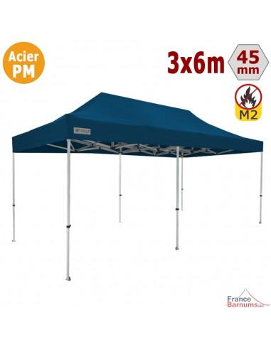Barnum Pliant - Stand Acier Premium M2 3x6m BLEU 380gr/m²