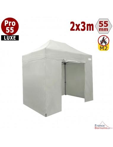 Barnum pliant professionnel 6m2  avec bâches en PVC blanc