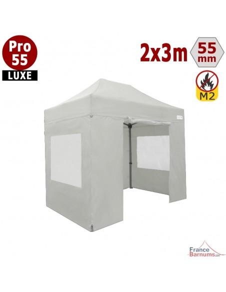 Barnum pliant professionnel 6m2 avec parois en PVC blanc