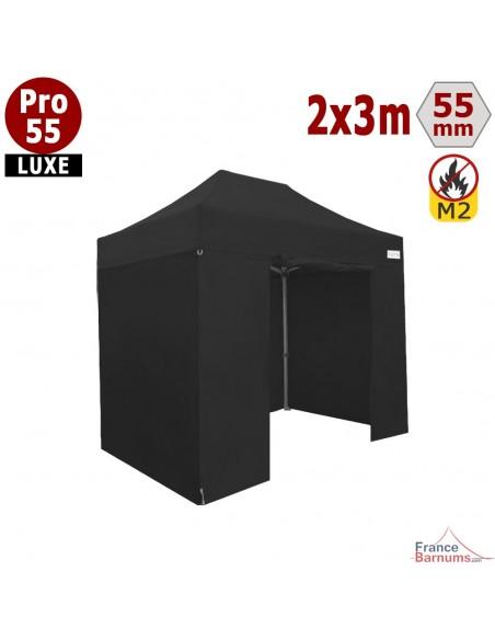 Barnum pliant professionnel 6m2 avec bâches en PVC noir