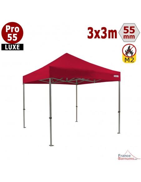 Barnum pliable rouge Alu pro 55 2x3m M2