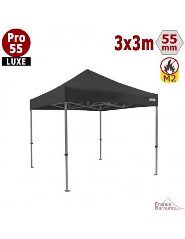 Tente pliable 3x3m avec structure en Aluminium et bâche de toit en PVC