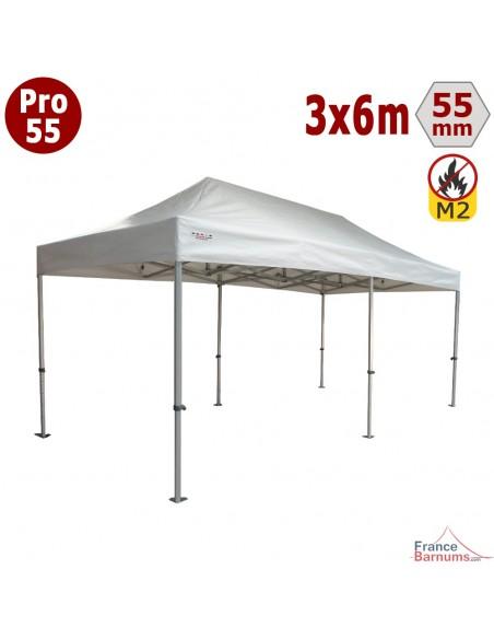 Barnum blanc professionnel 18m2 avec bâche de toit en PVC 580g/m2