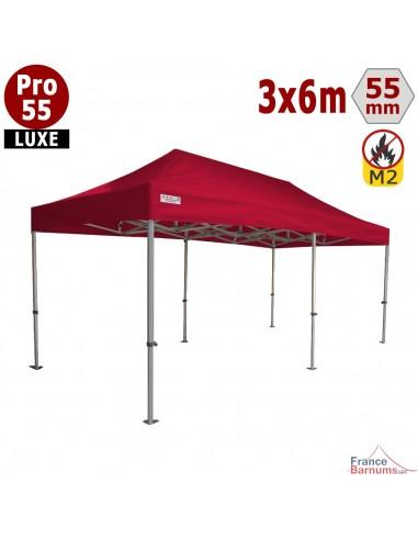 Stand pliable professionnel Alu Pro 55 avec bâche camion PVC  rouge 6x3m