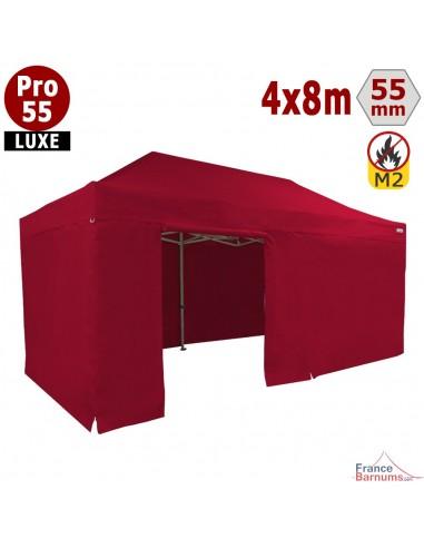 Barnum professionnel 4x8m et son pack côtés rouge