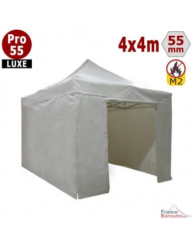 Barnum pliant 4 x 4 Pro 55 Luxe avec pack murs  PVC 580g/m2