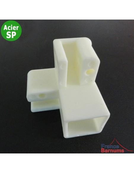 Pièce plastique N°1 pour haut de pied d'angle de barnum Acier Semi-Pro