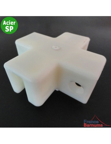 Pièce plastique N°5 collée sur le bas de mât de barnum Acier Semi-Pro
