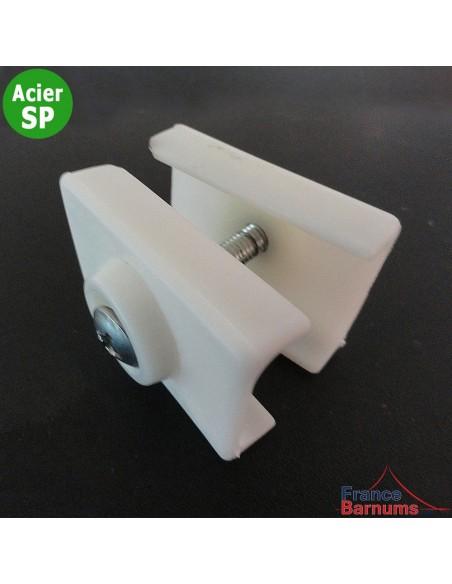 Pièce plastique N°6 de barnum Acier Semi-Pro : maintient 2 barres de cisaillement entre elles en leur milieu