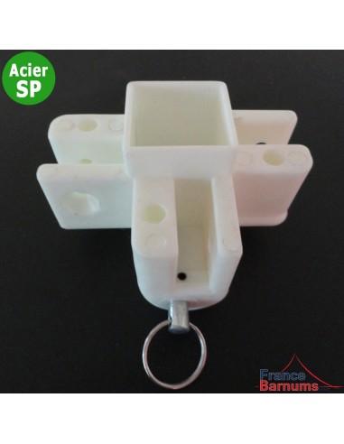 Pièce plastique N°8 coulissante avec goupille pour pied central de barnum Acier Semi-Pro
