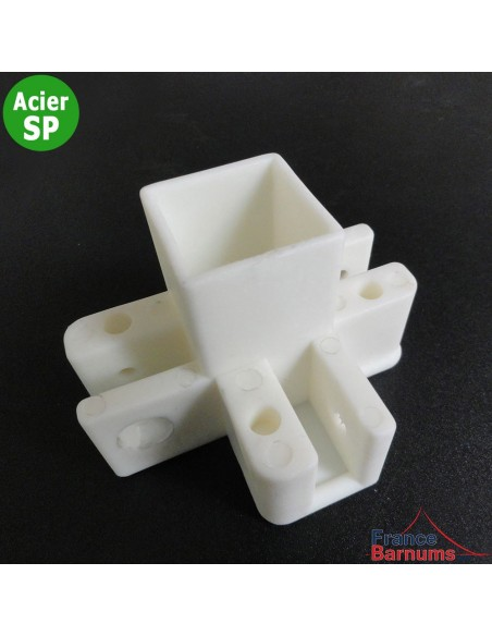 Pièce plastique N° 9 Pièce plastique pour haut de pied central de barnum Acier Semi-Pro
