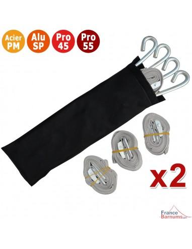 Pack de 2 kits d'arrimage pour sécuriser votre barnum pliant et assurer une bonne prise au sol