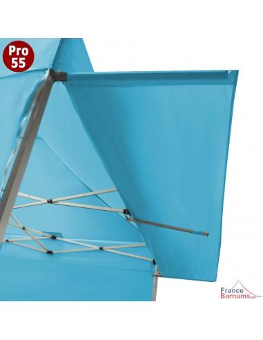 Casquette extension soleil bleue turquoise 3m en PVC 580g pour barnum pliant pro 55