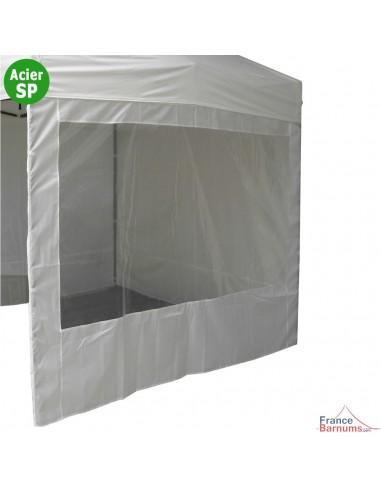 Paroi fenêtre 180g pour tente pliante Acier Semi-Pro