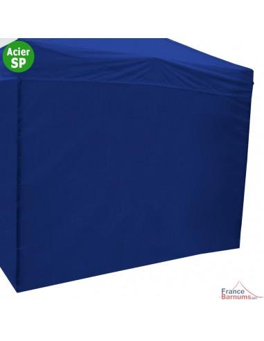 Paroi bleue 3m en 320g pour barnum pliant Acier Semi-pro