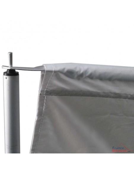Barnum pliant - Tonnelle Acier Semi Pro 2mx3m BLANC avec Pack 4 Côtés