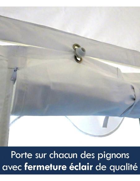 Tente de réception - Chapiteau ECO en PE de 5m x 8m avec Tubes de 38mm