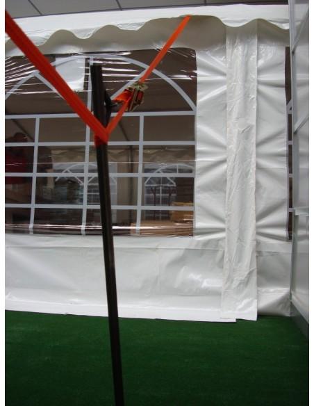 Piquet d'ancrage + Sangle + Cliquet pour Tente de Réception