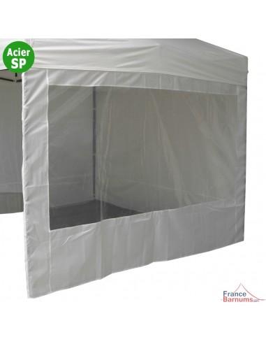 Paroi de 3m Fenêtre en 180gr/m² pour barnum Acier Semi Pro