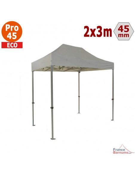 Barnum pliant - Tente pliante Alu Pro 45 ECO 2mx3m BLANC