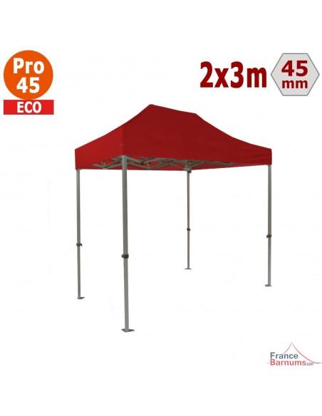 Barnum pliant - Tente pliante Alu Pro 45 ECO 2mx3m ROUGE