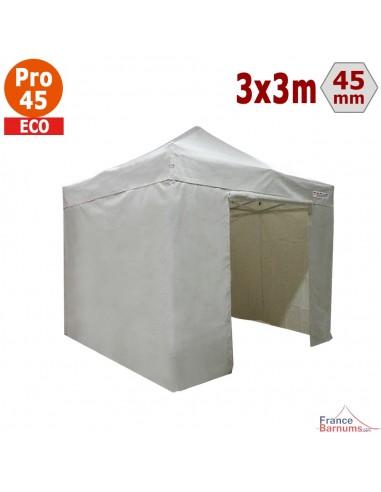 Barnum pliant - Tente pliante Alu Pro 45 ECO 3mx3m BLANC