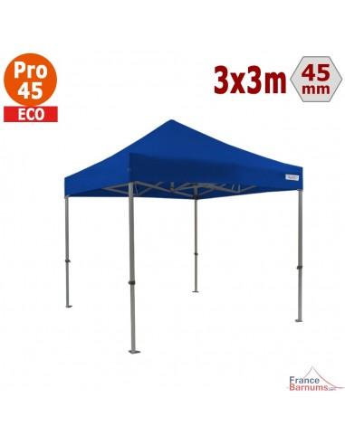 Barnum pliant - Tente pliante Alu Pro 45 ECO 3mx3m BLEU