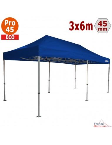 Barnum pliant - Tente pliante Alu Pro 45 ECO 3mx6m BLEU