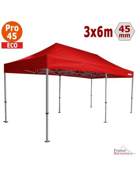 Barnum pliant - Tente pliante Alu Pro 45 ECO 3mx6m ROUGE