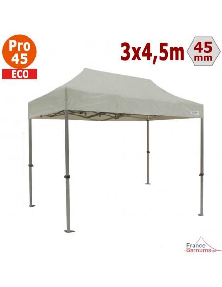 Barnum pliant - Tente pliante Alu Pro 45 ECO 3mx4,5m BLANC