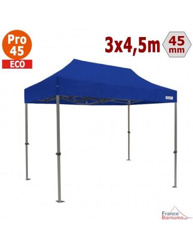 Barnum pliant - Tente pliante Alu Pro 45 ECO 3mx4,5m BLEU
