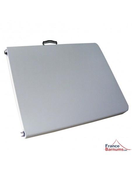 table de réception rectangulaire pliable en format valise - 183cm