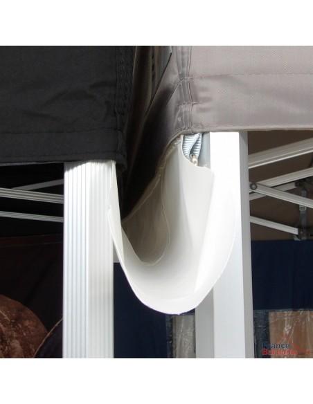 Gouttière en PVC 580gr/m² pour une bonne étanchéité entre deux tentes pliantes