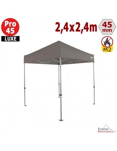 Barnum pliant - Stand pliant Alu Pro 45 LUXE M2 2,4mx2,4m TAUPE 380gr/m²
