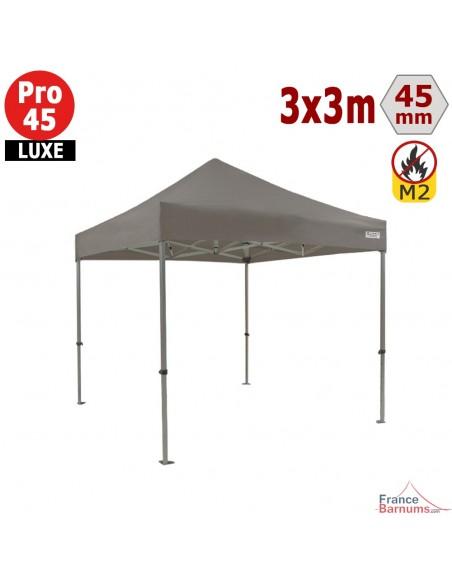 Barnum pliant - Stand pliant Alu Pro 45 LUXE M2 3mx3m TAUPE 380gr/m²