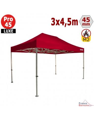 Barnum pliant - Stand pliant Alu Pro 45 LUXE M2 3mx4,5m ROUGE 380gr/m²