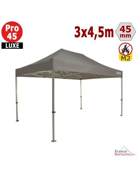 Barnum pliant - Stand pliant Alu Pro 45 LUXE M2 3mx4,5m TAUPE 380gr/m²