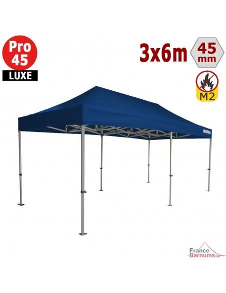Barnum pliant - Stand pliant Alu Pro 45 LUXE M2 3mx6m BLEU 380gr/m²