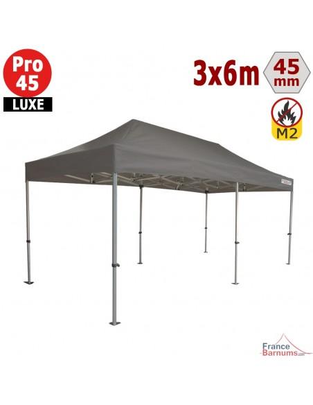 Barnum pliant - Stand pliant Alu Pro 45 LUXE M2 3mx6m TAUPE 380gr/m²