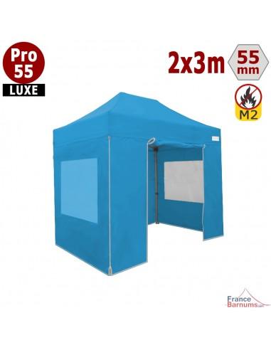 Barnum pliant professionnel 6m2 avec fenêtres bleu ciel