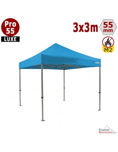 Tente pliante Alu pro 55 Bleu ciel 3x3m