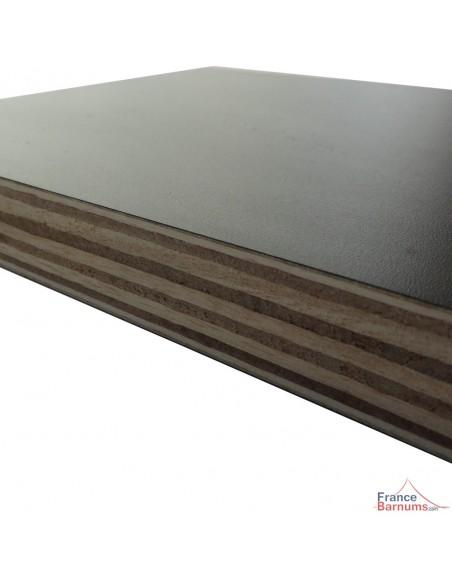 Table Comptoir Pliante 3m avec Plateau noir de 42cm