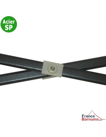 Lot de 2 barres de cisaillement avec pièce de jonction pour barnum Acier Semi-Pro de 3x3m, 3x4.5m ou 3x6m