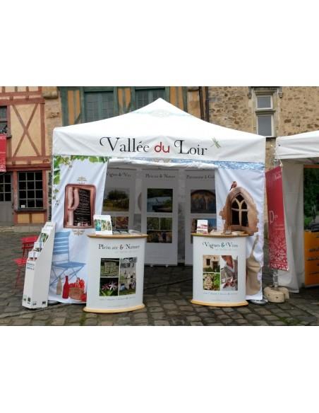 Barnum pliant Alu pro 55 personnalisé Vallée du Loir