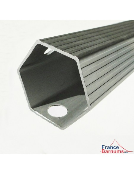 Section hexagonale 55mm avec épaisseur d'aluminium 2mm